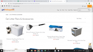 Got Pet Supplies website product page for litter boxes