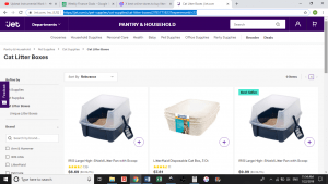 Jet website product page for litter boxes