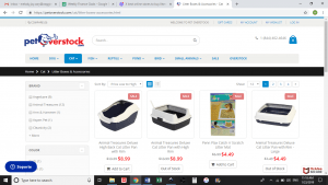 Pet Overstock website product page for litter boxes