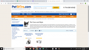 Pet Store website product page for litter boxes