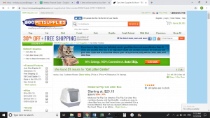 Pet Supplies website product page for litter boxes