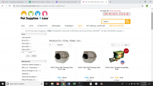 Pet Supplies 4 Less website product page for litter boxes