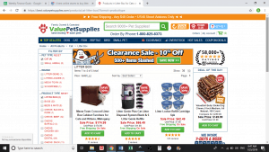 Value Pet website product page for litter boxes