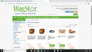 WagStar website product page for litter boxes