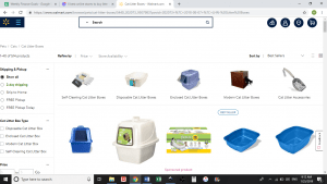 Walmart website product page for litter boxes