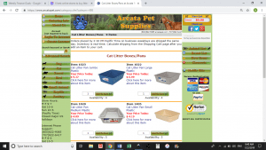 Arcata Pet Supplies website product page for litter boxes