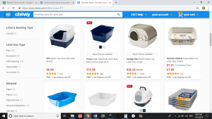 Chewy website product page for litter boxes
