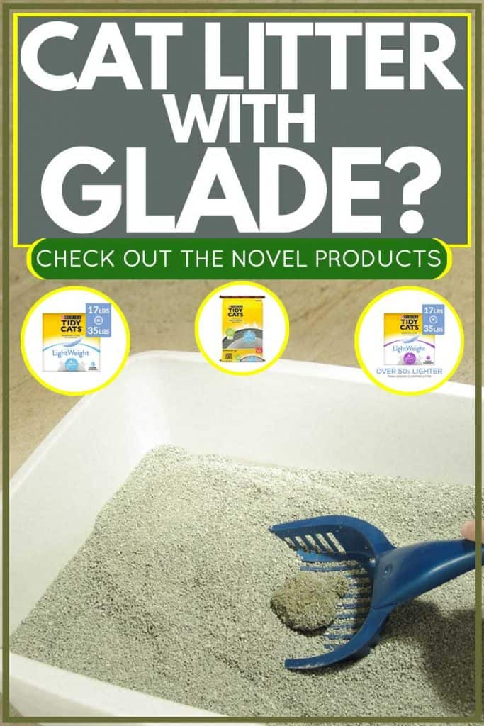 Cat litter on white litter box with scoop, Cat Litter with Glade? Check out these novel products!